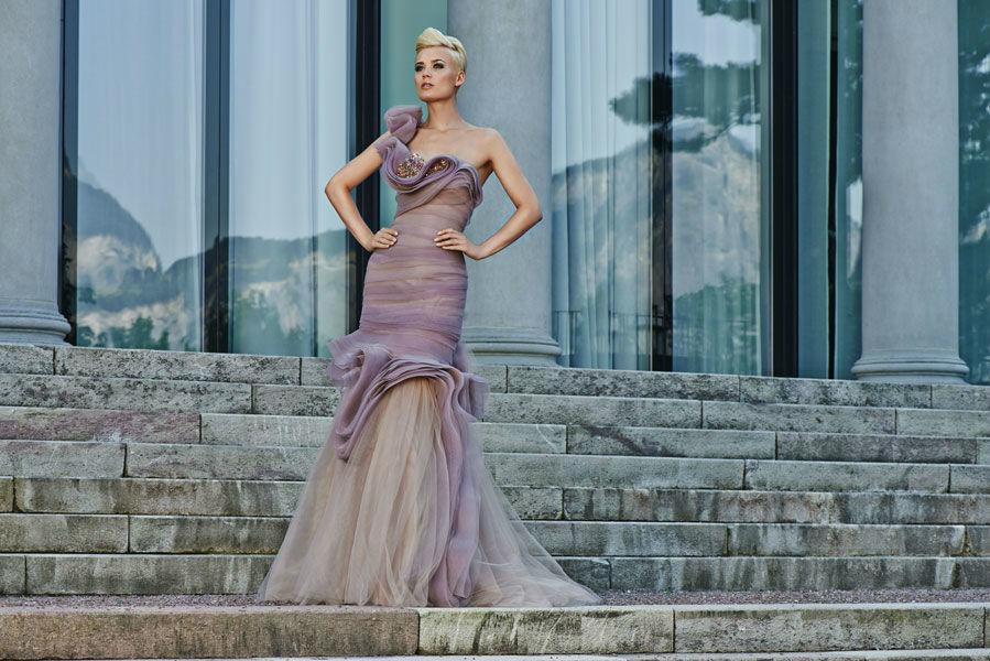 Beispiel: Einzigartige Kleider, Foto: Mery's Couture Abendmode.