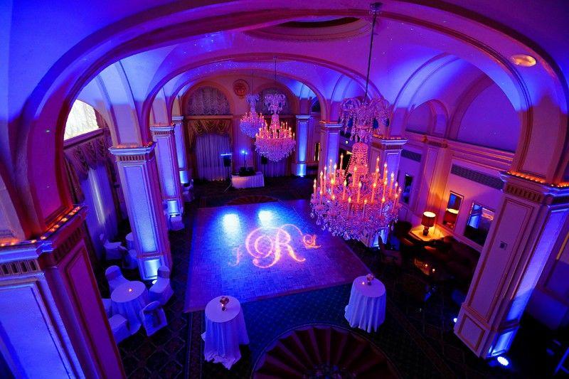 Dekoracja światłem sali weselnej www.fabrykaslubu.pl