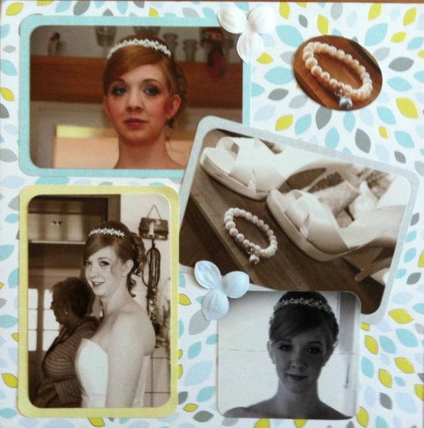 Beispiel: Idee fürs Hochzeitsfotoalbum, Foto: Wunschmomente.