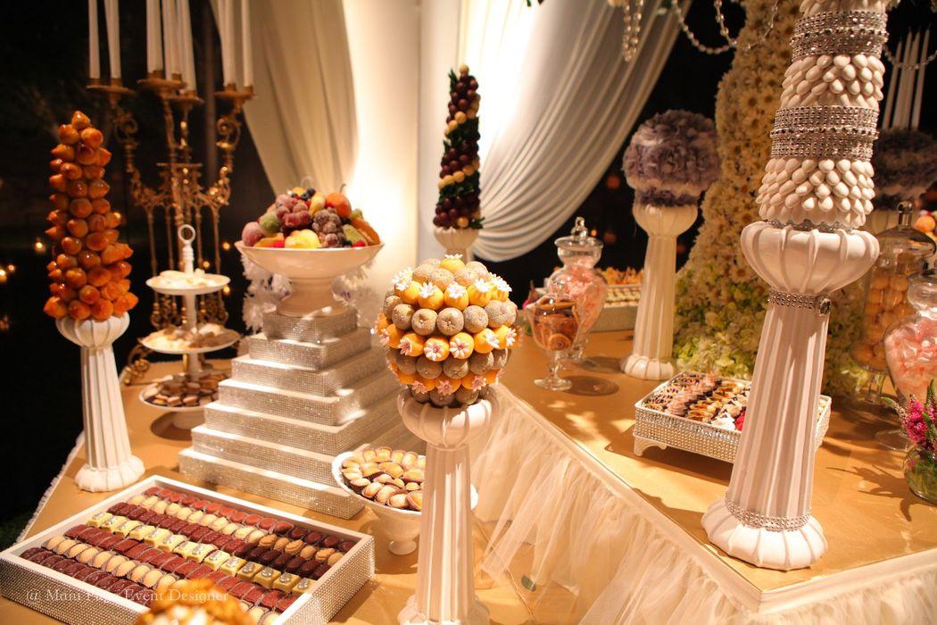 algunos detalles de mesas de dulces