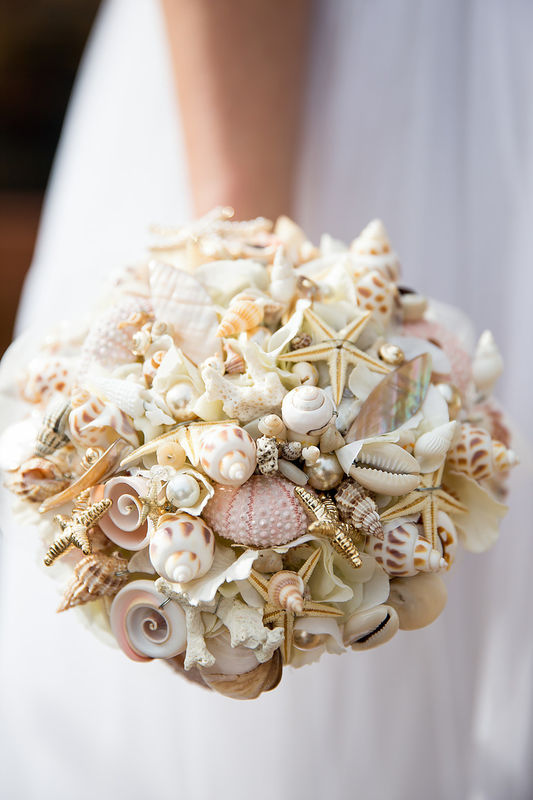 beach shell bouquet