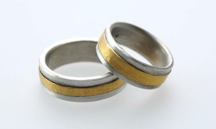 Beispiel: Ringe in Bicolor, Foto: Eve & Me.