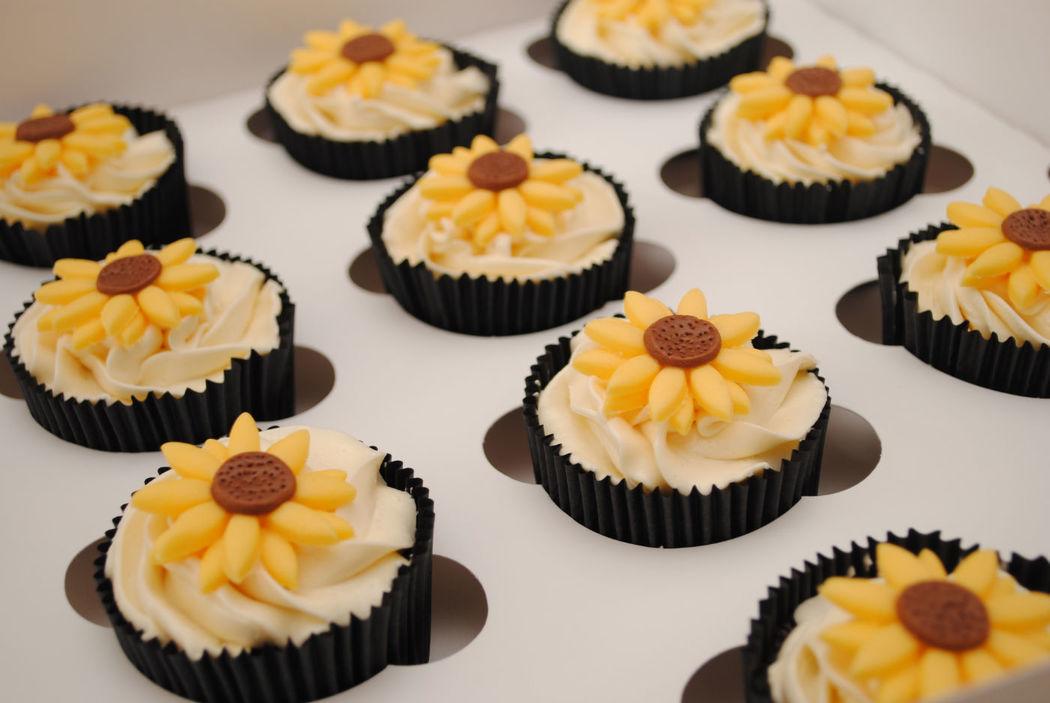 Cupcakes girasoles