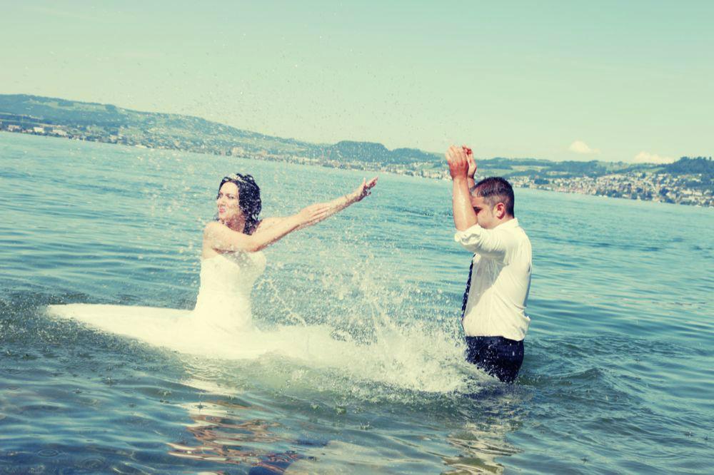 Beispiel: Witzige Fotos von Ihrer Hochzeit, Foto: Cut & Shoot.
