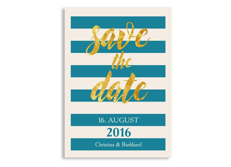 Beispiel: Hochzeitseinladung Save the date Thema Monaco, Foto: familiensache.