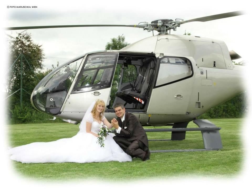 Beispiel: Helikopterflug, Foto: Hochzeitswerkstatt.