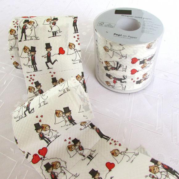 Papel higiénico de Novios... Detalles personalizados hasta en el tocador con este lindo papel design!