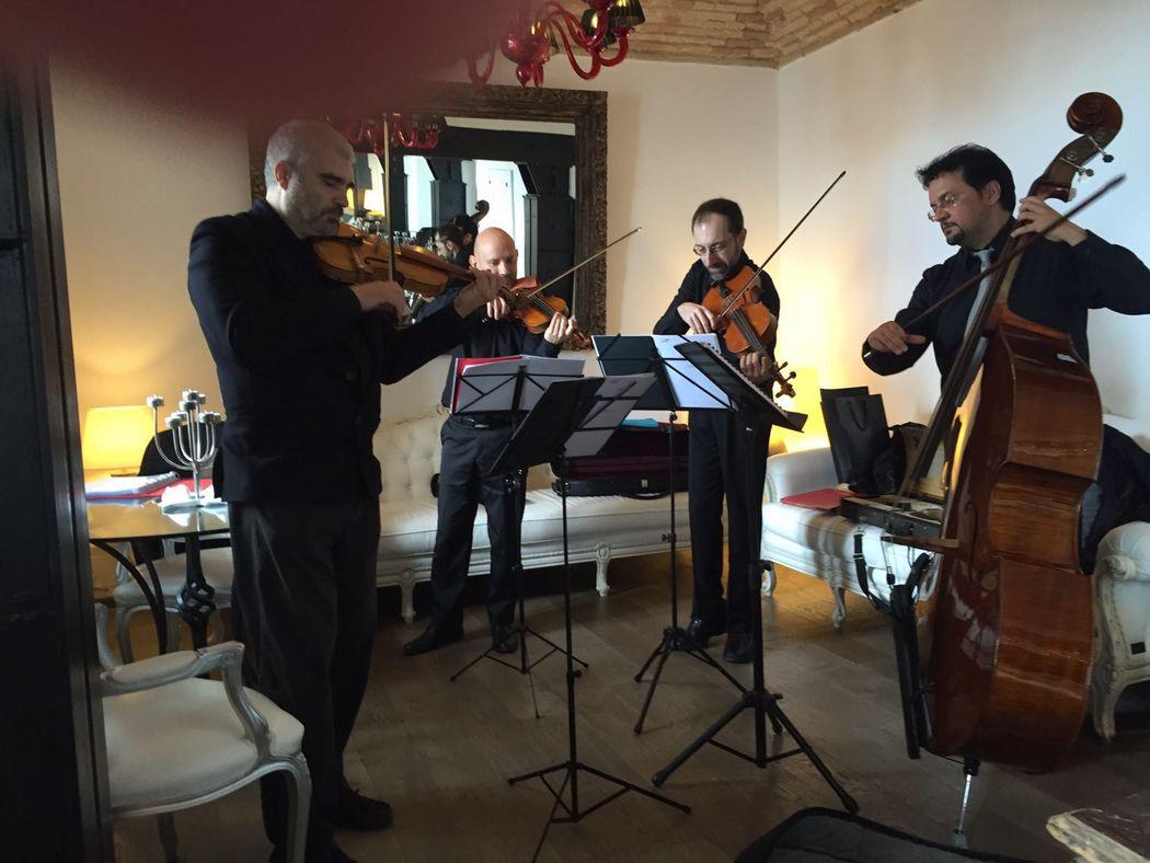 quartetto d'archi per aperitivi www.dejavumusica.it