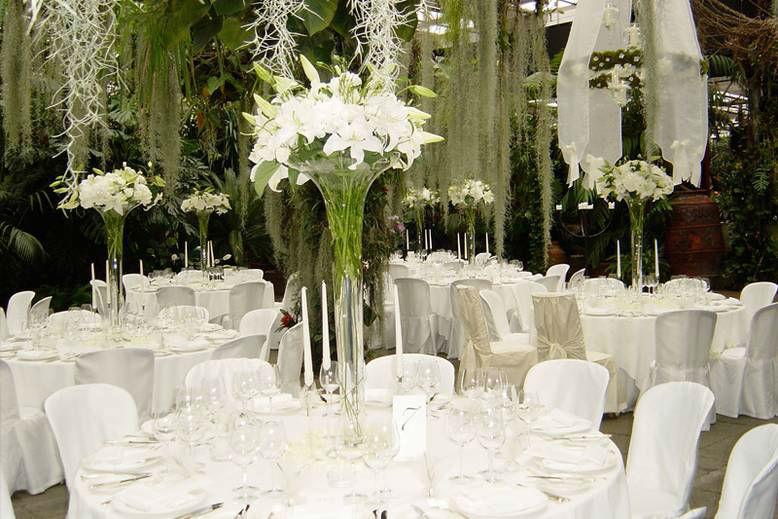 Beispiel: Hochzeitsgedeck, Foto: Giardino Verde.