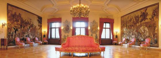 Beispiel: Gobelinsalon, Foto: Thurn und Taxis Schloss St. Emmeram.