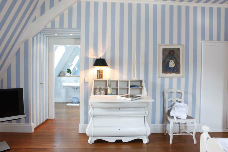 Beispiel: Zimmer blau, Foto: Schloss Gartrop.