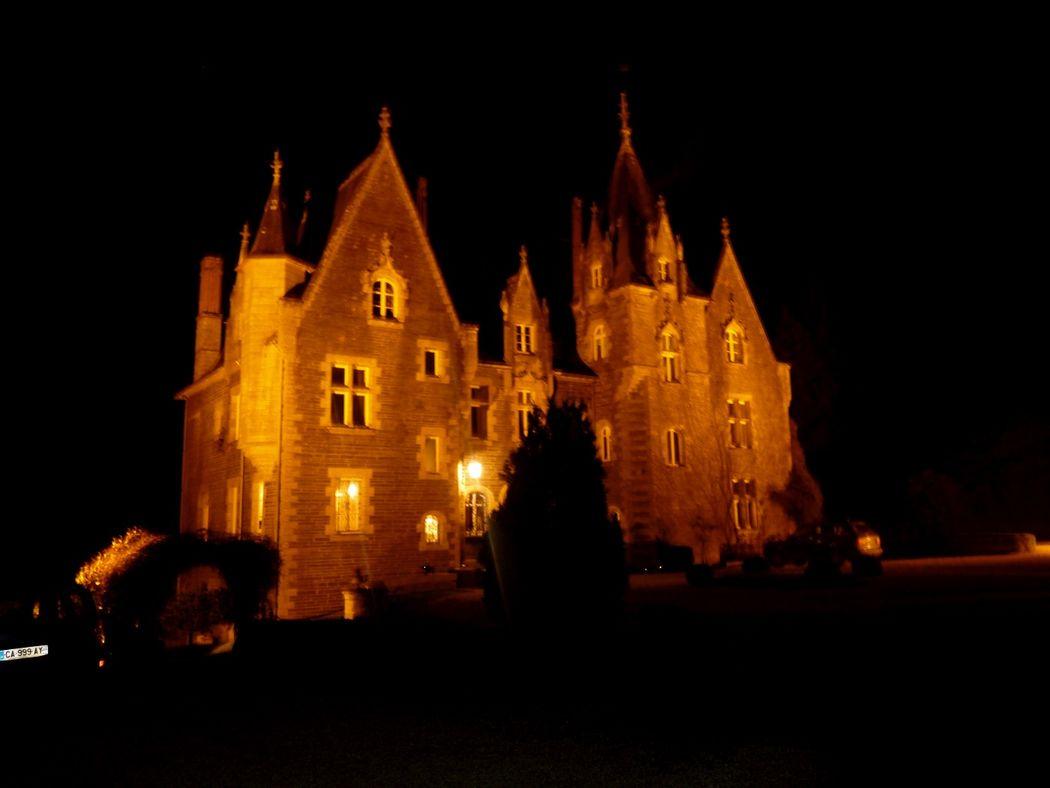 Le Chateau et son parc sont allumé la nuit