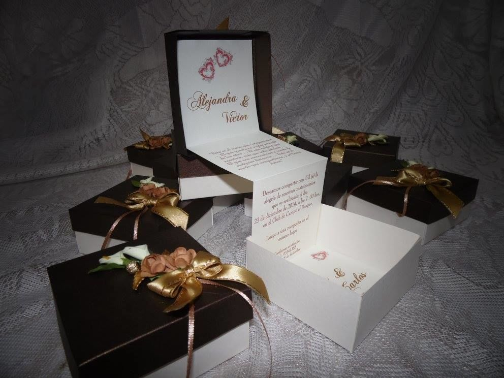 Partes de matrimonio en caja