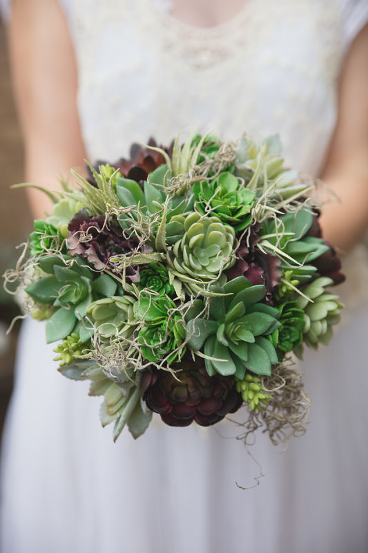 succulent artificial bouquet