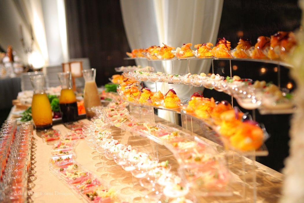 entradas del buffet