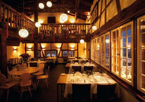 Beispiel: Restaurant, Foto: Maiensässhotel Guarda Val.