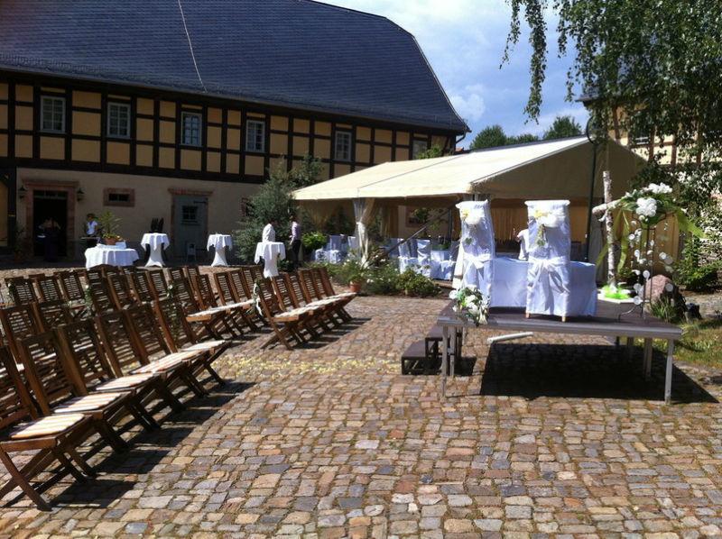 Beispiel: Innenhof, Foto: Denkmalhof Schlagwitz.