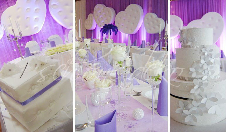 Beispiel: Deckendekoration mit Stoff und Beleuchtung, Foto: Schöne Deko.