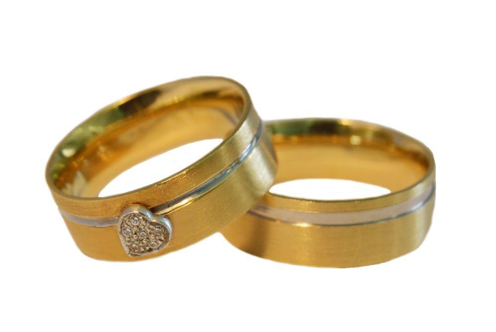 Alianças Casamento Ouro Bicolor ALBIC121