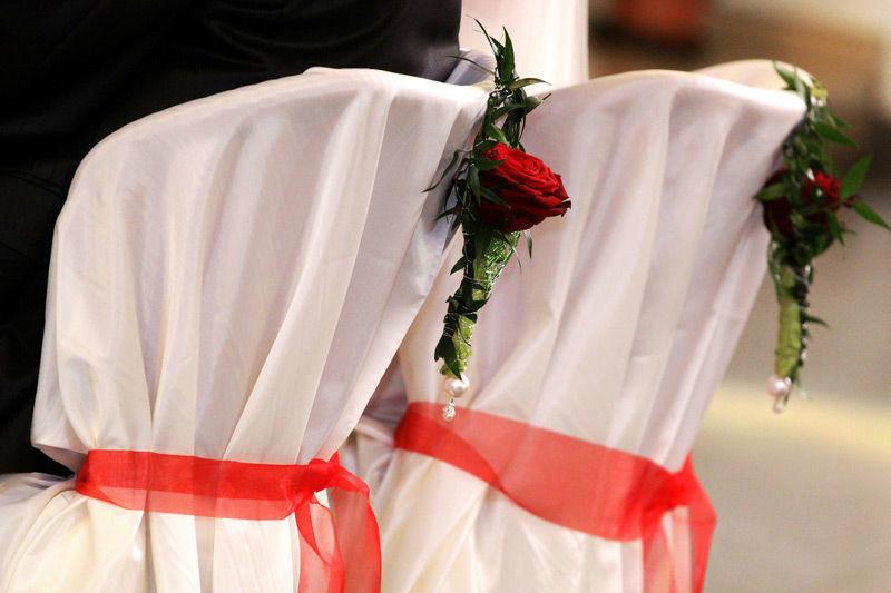 Beispiel: Blumen für die Zeremonie, Foto: Wilheine Blumenbindekunst.