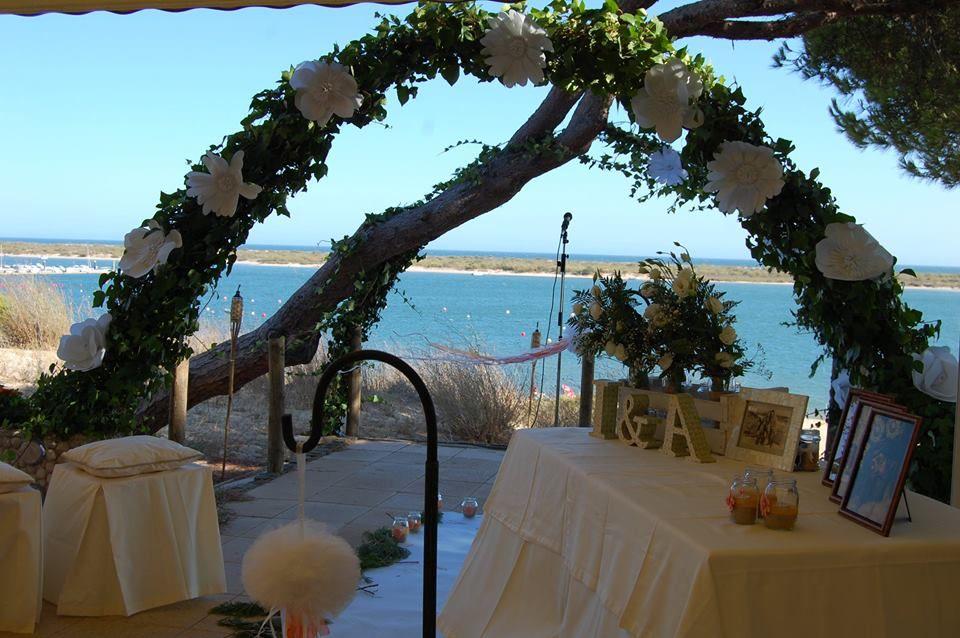 Decó boda civil en El Rompido