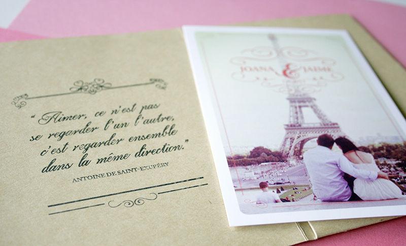 Convites de Casamento Romance em Paris