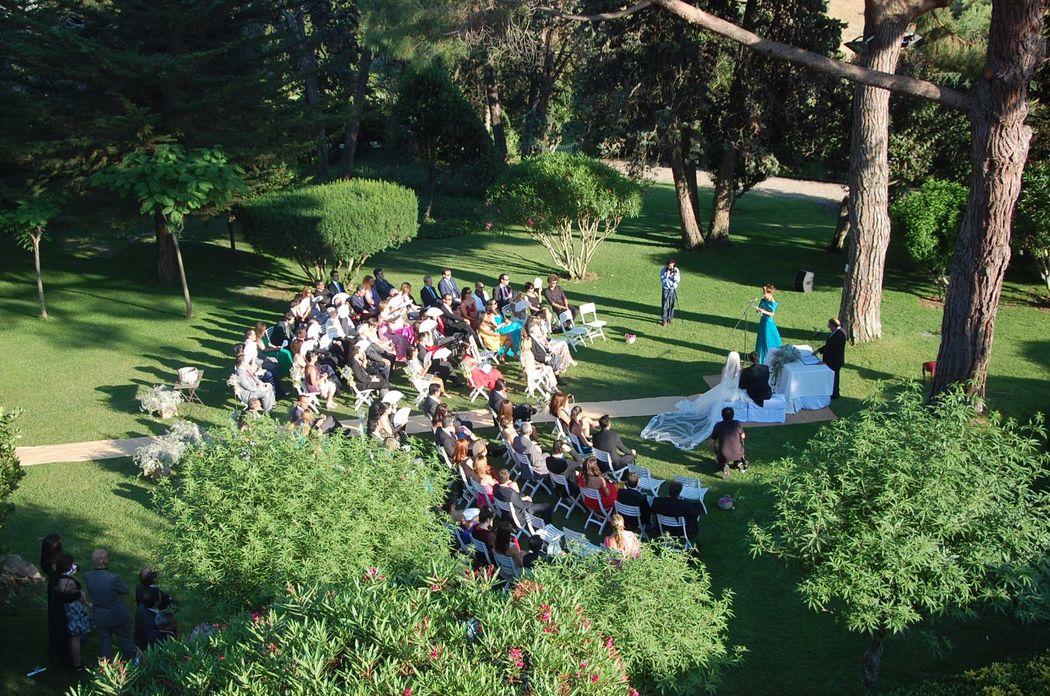 Jardín Verde Ceremonia Masia Egara