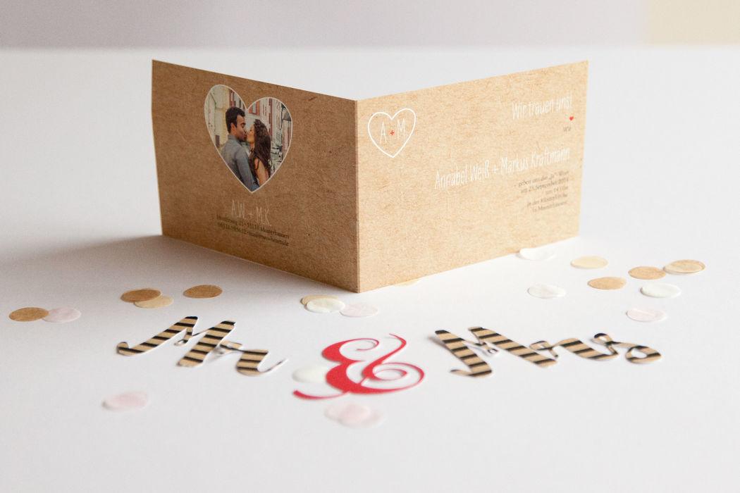 Beispiel: Hochzeitseinladung Thema Luzern, Foto: familiensache.