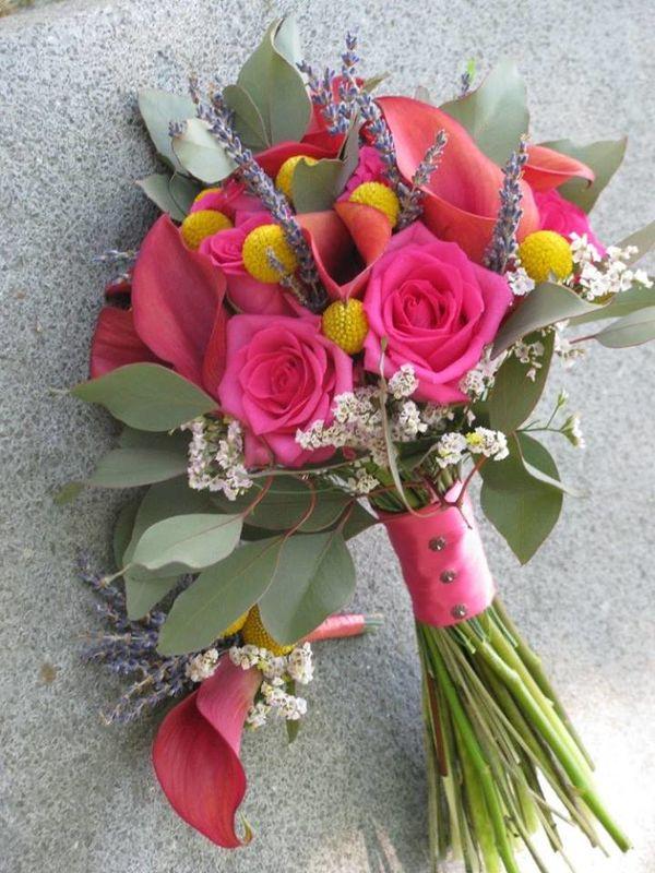 Bouquet de Noiva Jarros e Rosas cor-de-rosa