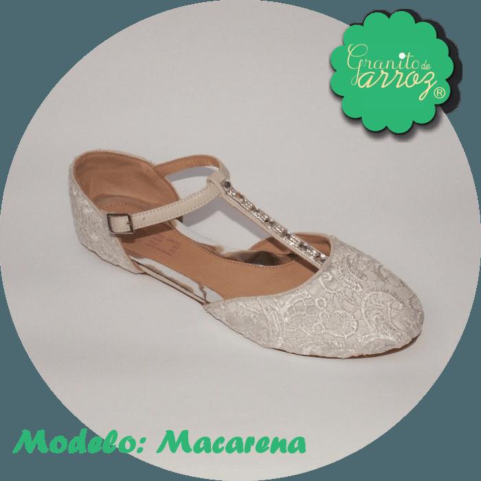 Modelo Macarena/Encaje Blanco