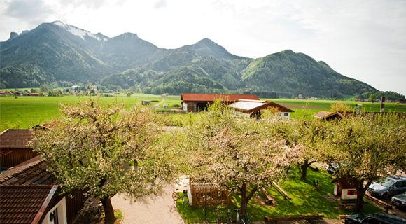 Beispiel: Aussicht Ferienwohnung, Foto: Weßner Hof.