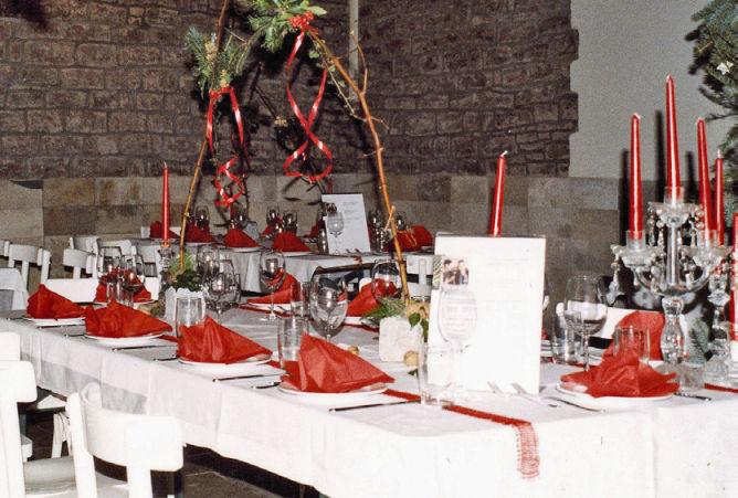 Beispiel: Tischdekoration, Foto: Majer Weingut.