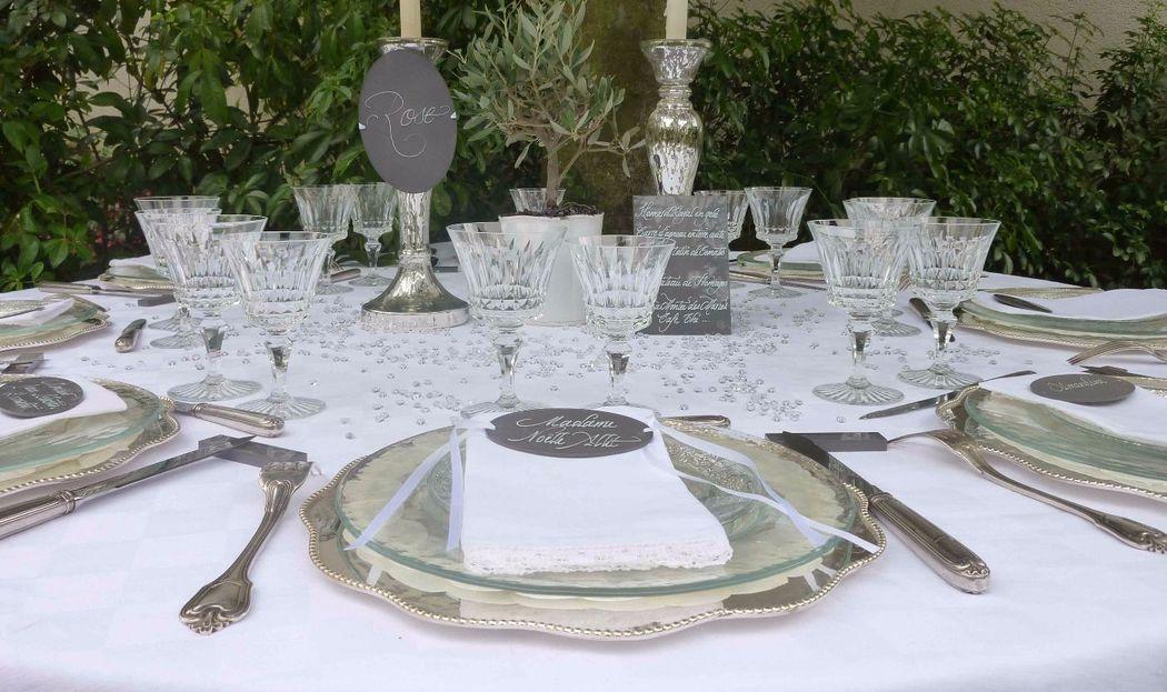 Menu,nom table,marque-place Plexiglas calligraphiés 15cm/10cm 10cm/5cm