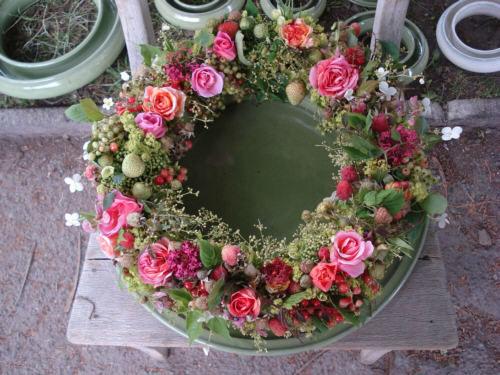Beispiel: Tischgesteck, Foto: Blatt & Blüte.