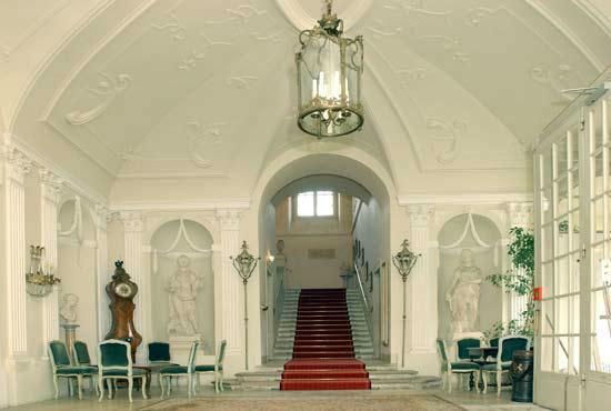 Beispiel: Eindruck von den Räumlichkeiten, Foto: Bundeskanzleramt - Schloss Laudon.
