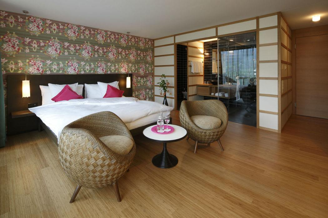 Beispiel: Zimmer, Foto: Seehotel Wilerbad.