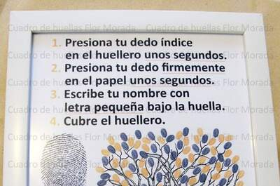 Flor Morada - Lienzo de firmas