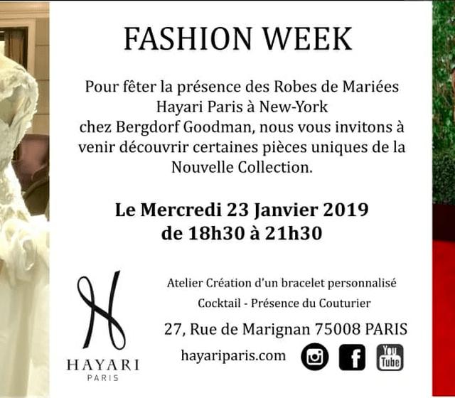 Évènement Hayari Paris Fashion Week