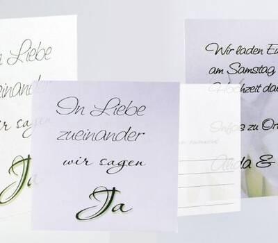 Beispiel: Hochzeitspapeterie, Foto: cardstyle.de.