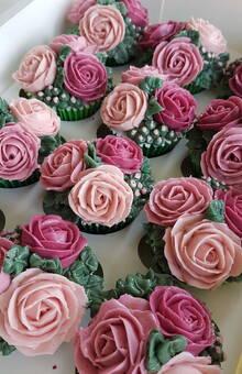 cupcakes flores buttercream