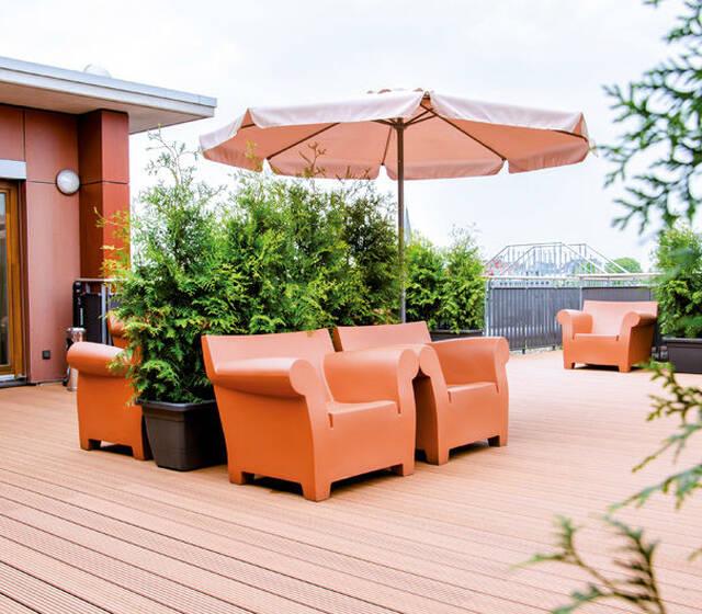 Beispiel: Dachterrasse, Foto: Hotel Begardenhof.