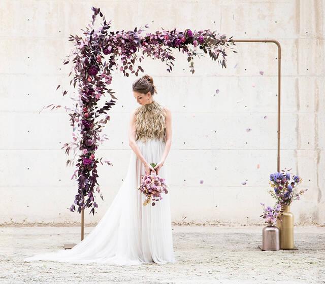 Arco y ramo de novia flowercap