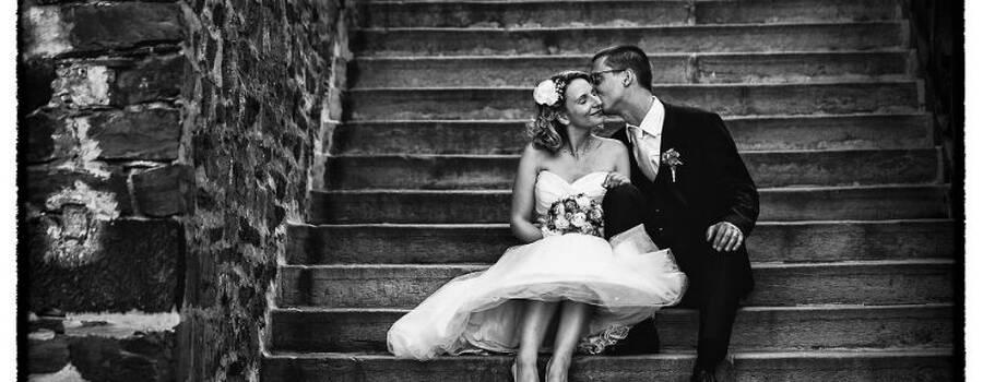 Beispiel: Hochzeitsfotos in Schwarz-Weiß, Foto: WW Fotodesign.