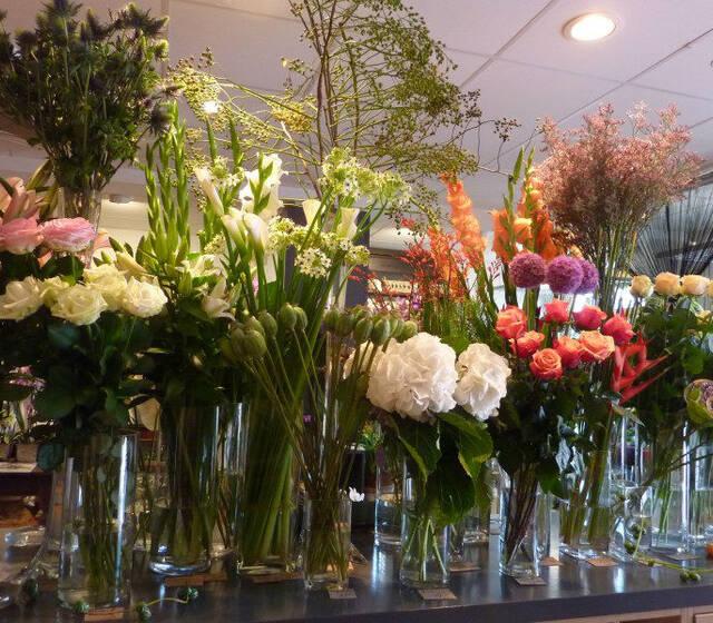 Beispiel: Verschiedene Sträuße, Foto: Blumenbinderei.
