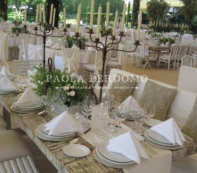Planeación, decoración y producción de bodas. Foto: Paola Perdomo