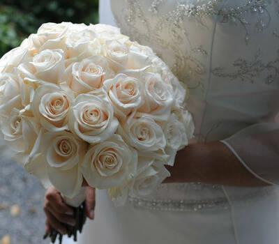 Beispiel: Ihre Hochzeitsfloristik, Foto: Blumenhus Spaltenstein.