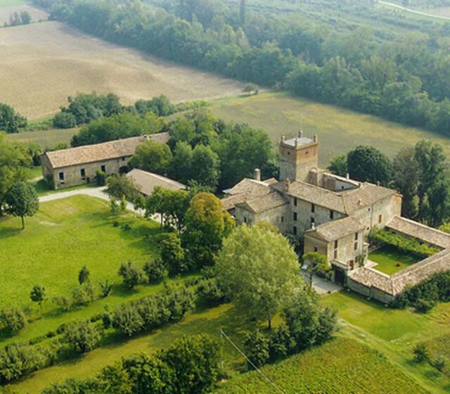 Vista aerea del Palazzo di Cuzzano