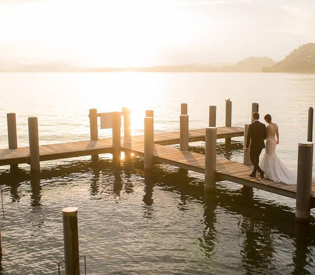 Sonnenuntergang Hochzeit