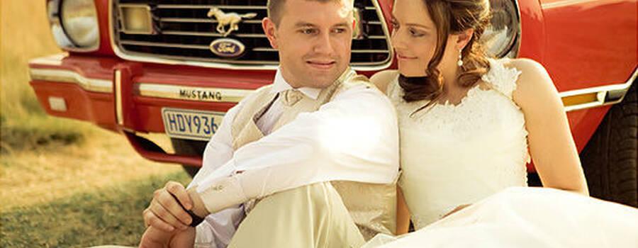 Beispiel: Ford Mustang - das ganz besondere Hochzeitsauto, Foto: Hamburger Oldtimer Verleih.