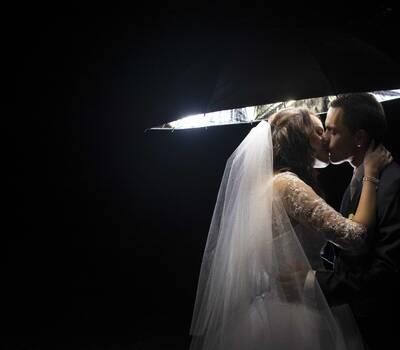 Plenerowa sesja ślubna w dniu ślubu Limanowa